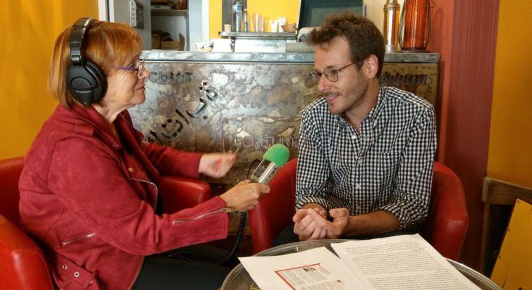 Antonin Crenn en entretien radiophonique avec Martine Calcinotto ©Confluences-Montauban-2020